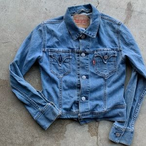 Levi's type 1 denim jacket jean women's size large